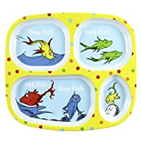 Bumkins Dr. Seuss Melamine Dishware, Yellow One Fish