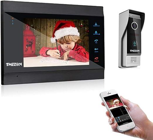 TMEZON 7 Pulgadas WiFi Inteligente IP Video Sistema de ...