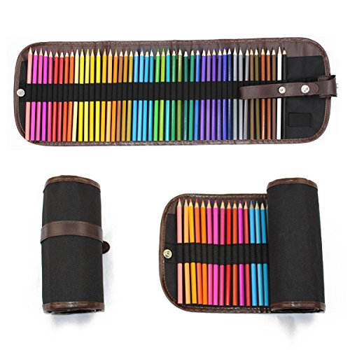 Kindom of Dreams TYGJ WMH 48-Color Pencils with Paint Brush, Sharpener and Pencil - Autumn Best Skin Colors For Tone