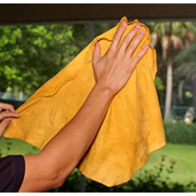 Natural Chamois M (2 sq ft.) Medium Size by Ever New Automotive Premium New Zealand Sheepskin! Fast Drying! for Auto, Boats, RV and Home! Chamois is Long Lasting and Super Absorbent!: Automotive