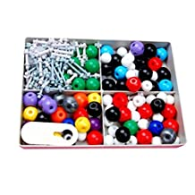 Molecular Model Set - Organic and Inorganic Chemistry / Comes with a Sturdy Plastic Case for Storage