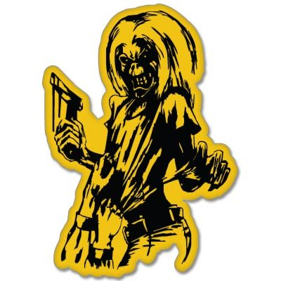 Iron Maiden Killers Vynil Car Sticker Decal - Select Size (Iron Maiden Window Decal compare prices)
