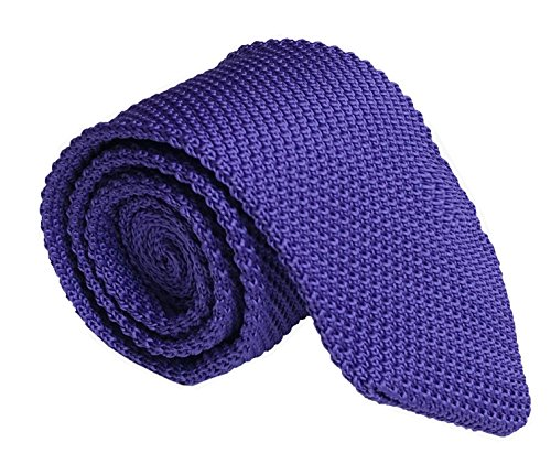 Men Grape Purple Style Knit Silk Neck Ties Trendy Long Woven Smart Soft Neckwear (Silk Cream Blazer)