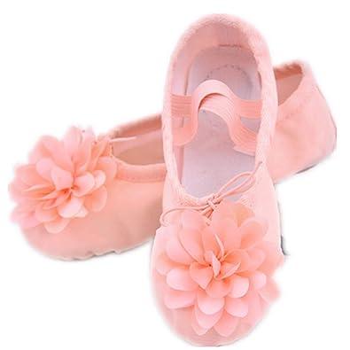 Amazon.com: cici Zapatos de ballet de cuero para niñas ...