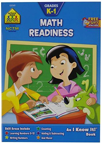 School Zone Curriculum Workbooks 32 Pages-Math Readiness Grades ()