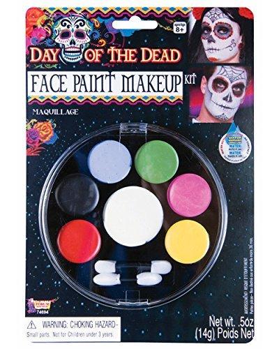 Mens Halloween Makeup Skull (Forum Novelties - Day of The Dead Face Paint Makeup Kit, Net Wt. 14 g/.5)