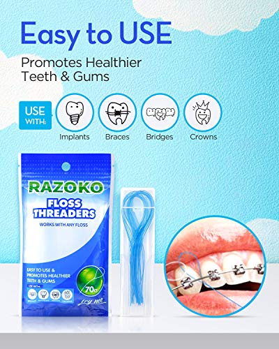 Floss Threaders | For Braces, Bridges, and Implants (3pack)