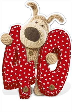 Boofle Giant Greeting Card Happy 40th Birthday Amazoncouk Kitchen Home