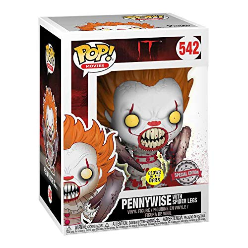 MMmedia Stephen Kings ES Figura Pennywise Spider Legs Glow in The Dark Funko Pop No 542 Vinilo 1