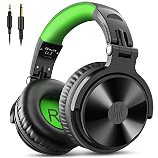 OneOdio Gaming Headsets with Boom Mic - Over Ear DJ Headphones Wired Stereo Sound for Recording Gaming Chatting, 50mm Driver Share-Port Soft Earmuffs for Guitar AMP PS4 Xbox Cell Phone PC Laptop
