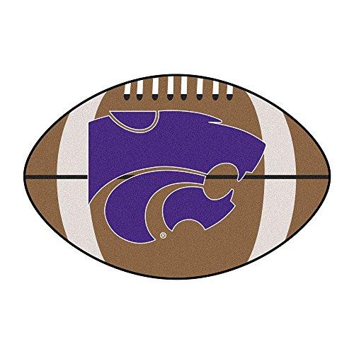 NCAA Kansas State University Wildcats Football Shaped Mat Area Rug