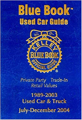 Kelley Blue Book Used Car Guide: Consumer Edition 1989-2003