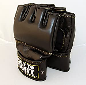 Built to Fight - MMA Fight Gloves (Black, X Large)