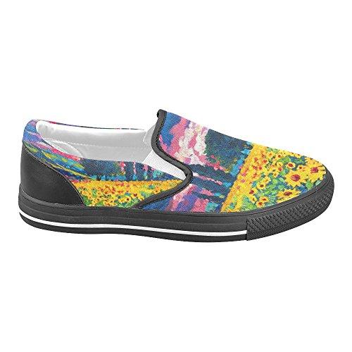 Unik Debora Anpassade Mode Kvinna Gymnastikskor Ovanliga Loafers Slip-on Tygskor Multicoloured14