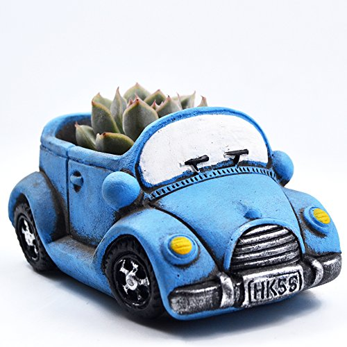 ascrafter-blue-car-funny-succulent-planter-small-succulent-pots-flower-plant-containers