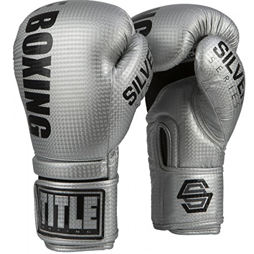 Title Boxing Silver Series Surpass Bag Gloves, Silver, 12 oz ()