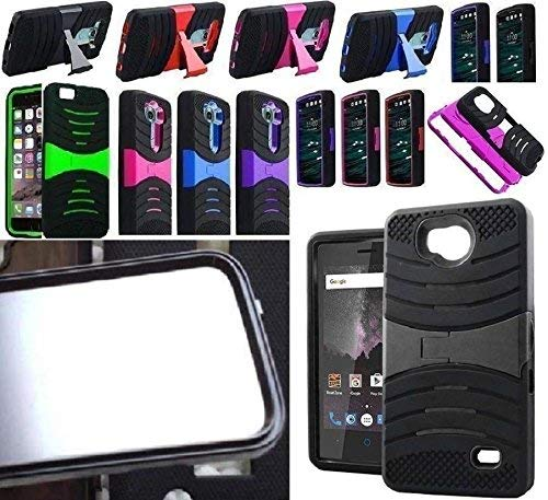 [ NP ARMOR ] Built-in Screen Guard Protector Faceplate Phone Cover Case for ZTE Majesty Pro / Z799VL Z798BL N9131 (sBLACK/Black ()
