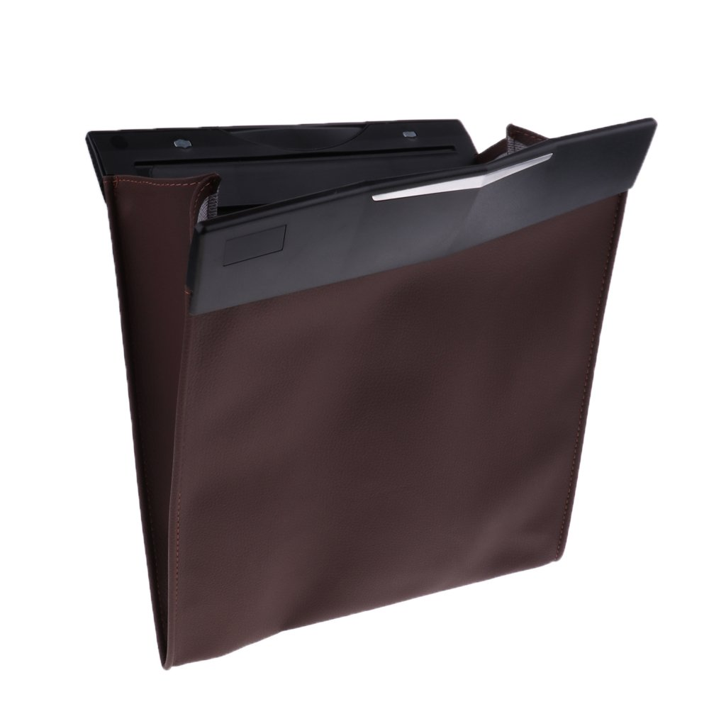 D DOLITY Easy Install Safety Back Seat Organizer Travel Storage Waterproof - Brown