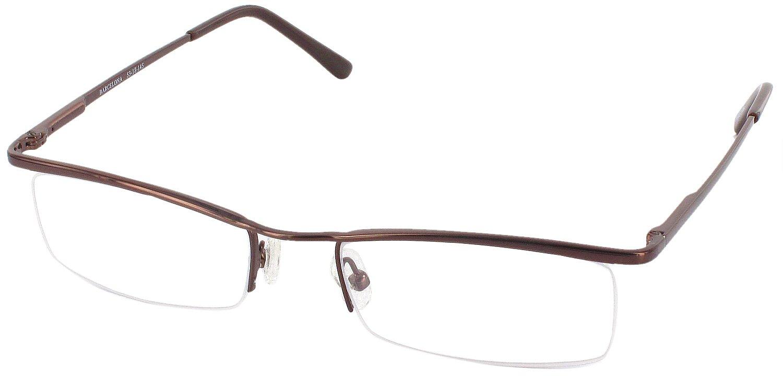 Barcelona Progressive No Line Bifocal Reading Glasses, Bronze, +1.50