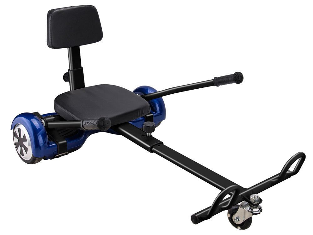 HOVERHEART Hoverboard Cart Hover Kart Adjustable Go Kart (Black)