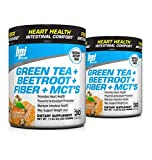 BPI Sports, Green Tea Plus Beetroot Plus Fiber Plus MCT's, Antioxidant Support, 30 Servings Each, Pack of 2 (Tangerine Ice)