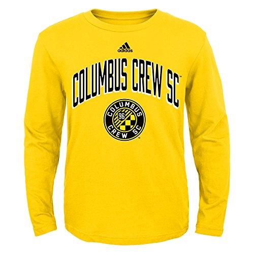 (MLS Columbus Crew Boys 8-20 Arched Standard Long Sleeve Tee, Sun, Small)