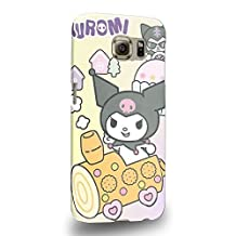 Case88 Premium Designs My Melody & Kuromi Collection 0645 Protective Snap-on Hard Back Case Cover for Samsung Galaxy S6