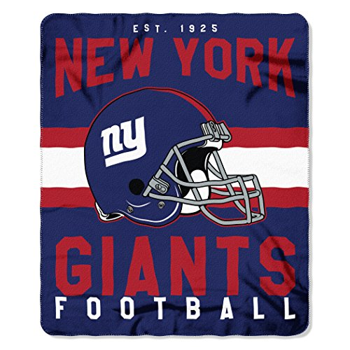 The Northwest Company NFL New York Giants Singular 50-inch by 60-inch Printed Fleece Throw ()