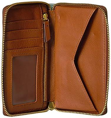 Fossil Caroline Rfid Smartphone Zip Around Wallet Chevron Blue Wallet