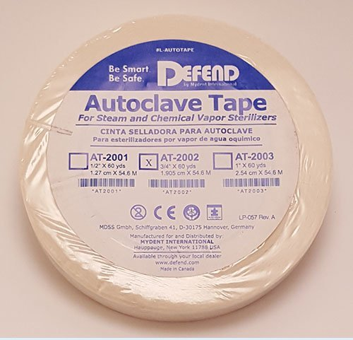 DEFEND Autoclave Tape 3/4''x60yds #AT-2002