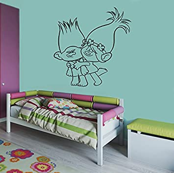 Branch poppy trolls wall vinyl decal home interior sticker kid room graphic child bedroom applique trolls1