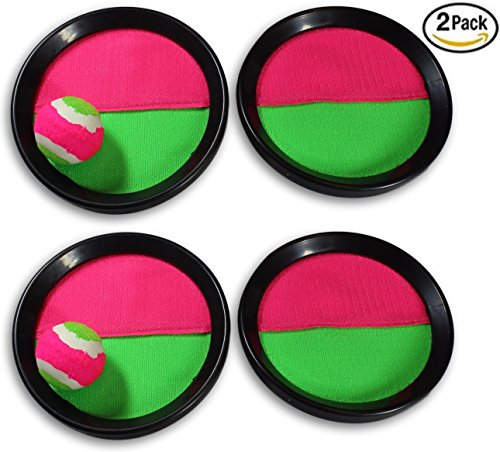 d Catch Ball Game Set! Throw Catch Bat Ball Game (2 Pack) for Kids and children (Throw Ball Game)