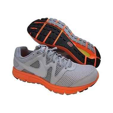 bfc15fb5b0cee Nike Lunarfly+3 Breathe Size 9 Grey Orange