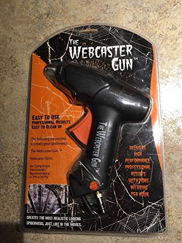 The Webcaster Gun: Create a Spooky Spiderweb Scene. Perfect for The Professional or Home Haunter