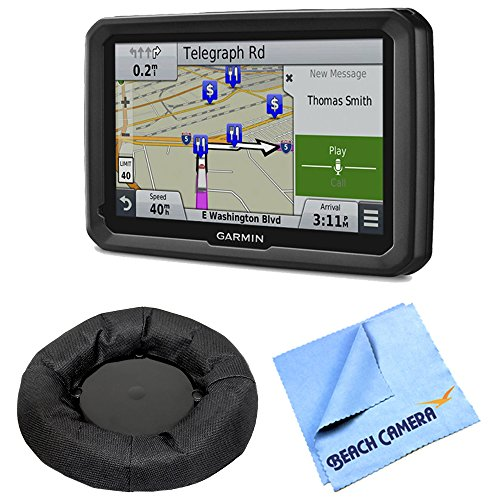 Garmin dezl 770LMTHD 7″ GPS with Lifetime Map and Traffic Updates Nav-Mat Portable GPS Dash Mount Bundle For Sale