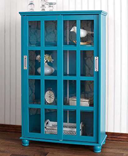 The Lakeside Collection Sliding Door Cabinet - Ocean Blue ()