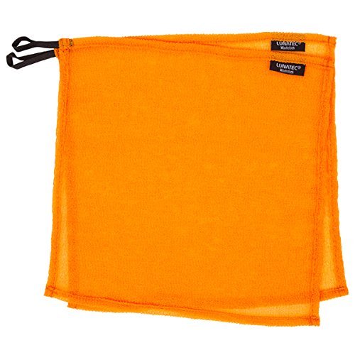(Lunatec Self-Cleaning Travel Washcloth. Odor-Free, Quick Drying & Light Exfoliation. Wash Cloth is Ideal for Camping, Backpacking, Showers, Gyms & Boating. Compliments Any Towel. (Orange Medium))