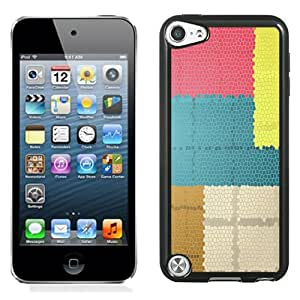 Beautiful Designed Antiskid Cover Case For iPod Touch 5 Phone Case With Colorful Mozaic Pattern_Black Phone Case