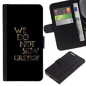KLONGSHOP // Tirón de la caja Cartera de cuero con ranuras para tarjetas - No sembramos - Apple Iphone 6 PLUS 5.5 //