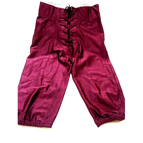 AUGUST OVER RUN SPANDEX FOOTBALL YOUTH GAME PANTS WINE (NO PADS) free shipping