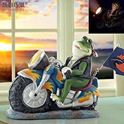 YZL/ Decorations/creative crafts/frog motorbike resin ornaments
