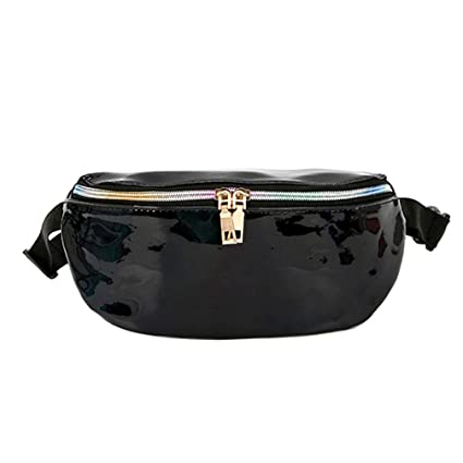67a7b71db0 Image Unavailable. Image not available for. Color  Auwer Women Fashion Hologram  Laser Waist Bag Fanny Pack ...