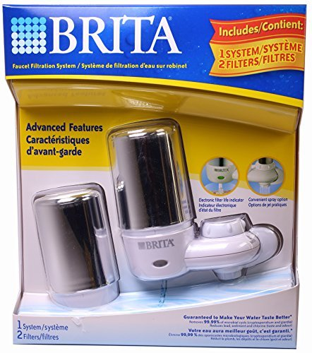 Brita Faucet Filtration System, Includes 1 System, 2 Filters (Water Filter Brita Faucet)