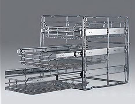 Cestelli Estraibili Per Mobili Da Cucina.Wesco Cestelli Da Cucina Estraibili Per Armadi Con