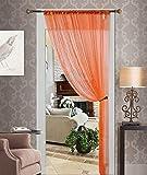 Orange String Curtain, Thread Curtain, Fringe Panel Blind Room Divider 55X84
