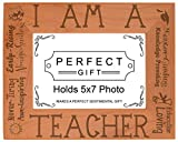Cheap ThisWear Teacher Appreciation Gift I am a Teacher Poem Natural Wood Engraved 5×7 Landscape Picture Frame Wood