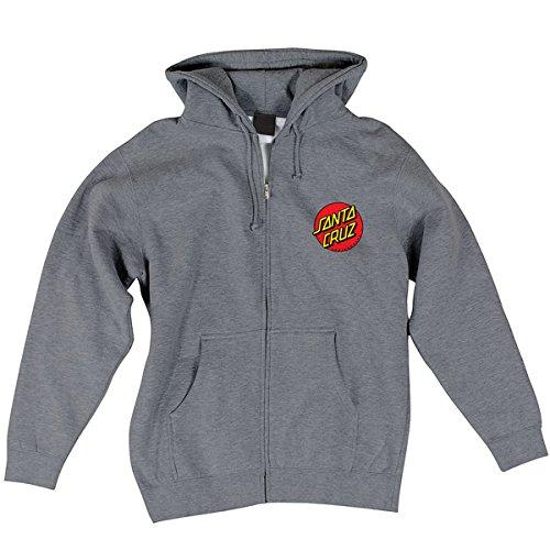 Santa Cruz Mens Classic Dot Hoody Zip Sweatshirt Large Gunmetal