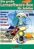 Die große Lernsoftware-Box für Schüler, 4 CD-ROMs Mathematik, Physik, Biologie, Chemie. Spielend lernen von der 5. Klasse bis zur 13. Klasse. Für Windows 95 oder höher