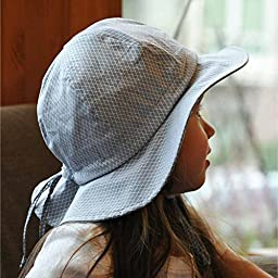 Baby Sun Hat with Chin Strap, Drawstring Adjust Head Size, Breathable 50+ UPF (S: 0 - 9m, Tiny argyle )