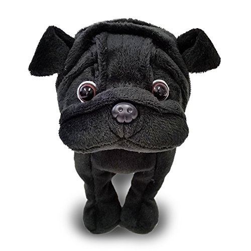 (Premium paper black Pug stuffed)